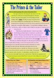 English Worksheets: The Prince and the Tailor