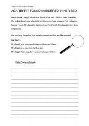English Worksheet: Whodunit? Modals of deduction