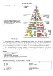 English Worksheet: Vitamins
