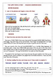 THE HAPPY PEOPLE STORY - Reading Comprehension exercises