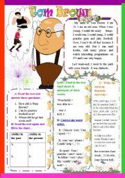 English Worksheets: Tom Brown