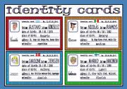 English Worksheet: identity cards (3/3)