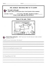 English Worksheets: Writing Packet