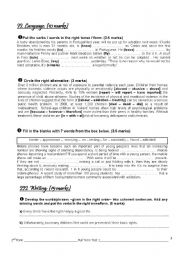 English Worksheet: full term test 1 2nd form (part 2)