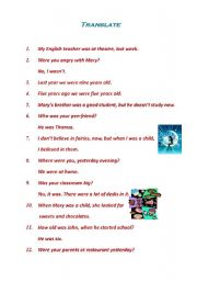 English Worksheet: Translate