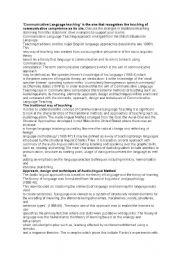English Worksheets: communicative approach