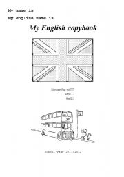 First Page Copybook Esl Worksheet By Melliemellou
