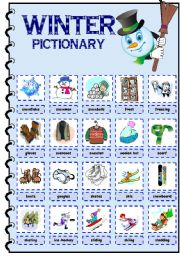 English Worksheets: Winter pictionary