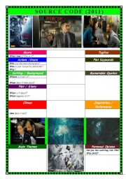 English Worksheets: MOVIE: Source Code