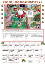 HIDDEN CHRISTMAS ITEMS