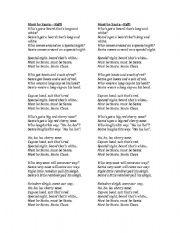 English Worksheets: Must Be Santa Lyrics + Game