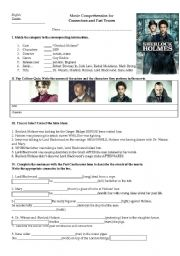 English Worksheets: Sherlock Holmes Movie