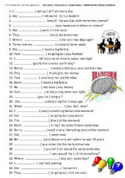 English Worksheet: 35 SENTENCES !!!! PAST SIMPLE / WOULD LIKE TO / FUTURE SIMPLE  / PRESENT SIMPLE/ PRESENT CONTINOUS