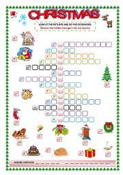 english teaching worksheets christmas crosswords. Black Bedroom Furniture Sets. Home Design Ideas