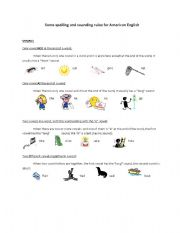 English Worksheet: Spelling Rules for American English