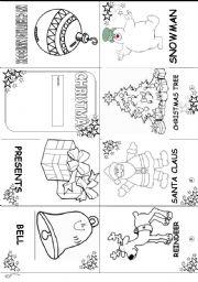 ESL kids worksheets Christmas minibook