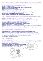 English Worksheet: Ice-breakers on the topic