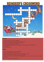 English Worksheets: Reindeer�s Crossword