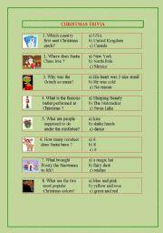 English worksheet: Christmas Trivia