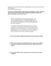 english worksheets understanding tone mood of edgar allan poe. Black Bedroom Furniture Sets. Home Design Ideas