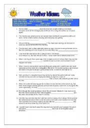 English worksheet: Weather idioms exercise with key