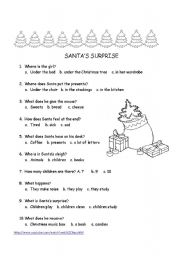 English Worksheets: SANTA�S SURPRISE QUESTIONS