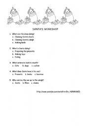 English Worksheets: SANTA�S WORKSHOP