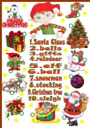 English Worksheet: Christmas-basic vocabulary