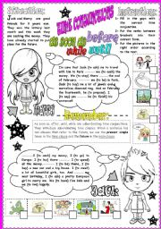 English Worksheets: time conjunctions: as soon as-while-until-after