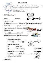 English Worksheet: JINGLE BELLS (blank lyrics)