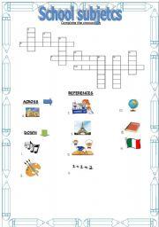 school essay crossword