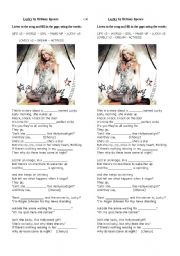 English Worksheet: Lucky by Britney Spears
