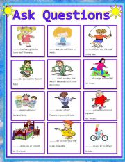 ESL worksheets for beginners: W. H question words