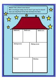 Esl Kids Worksheets House Rooms
