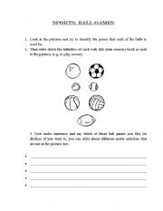 english worksheets sports ball games. Black Bedroom Furniture Sets. Home Design Ideas
