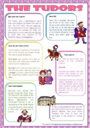 English Worksheets: The Tudors