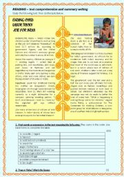 English Worksheets: CHILD LABOUR IN INDIA (text comprehension, KEY included)