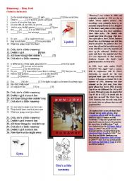 English Worksheet: Runaway � Bon Jovi