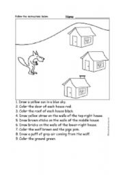 English Worksheets: 3 little pigs
