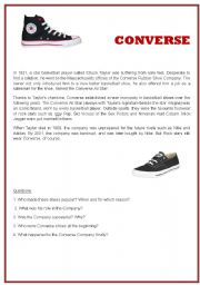 English Worksheets: Reading Comprehension N°2. CONVERSE. Questions with keys.