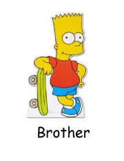 English Worksheet: Flashcards - Family The Simpsons