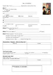 Mrs Doubtfire Video Worksheet