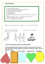 English Worksheet: nutrition: food and health