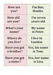 English worksheet: basic conversation