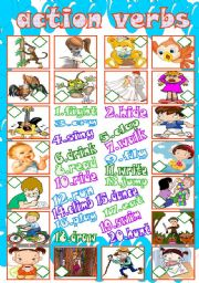 English Worksheets: Action verbs match