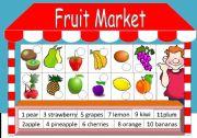English Worksheet: Fruits Market