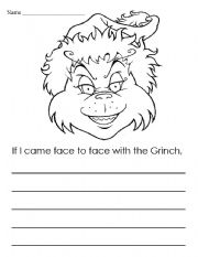 English Worksheet: Grinch Writing