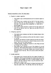 English Worksheets: Choral Repetition