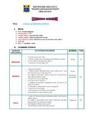 English Worksheets: LESSON PLAN ADVENTURE SPORTS