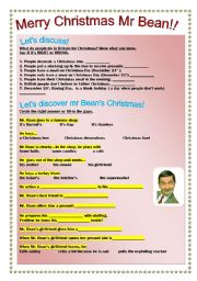 English Worksheets: Merry Christmas mr Bean!